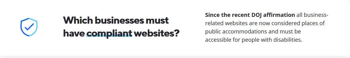 Which businesses must have compliant websites?